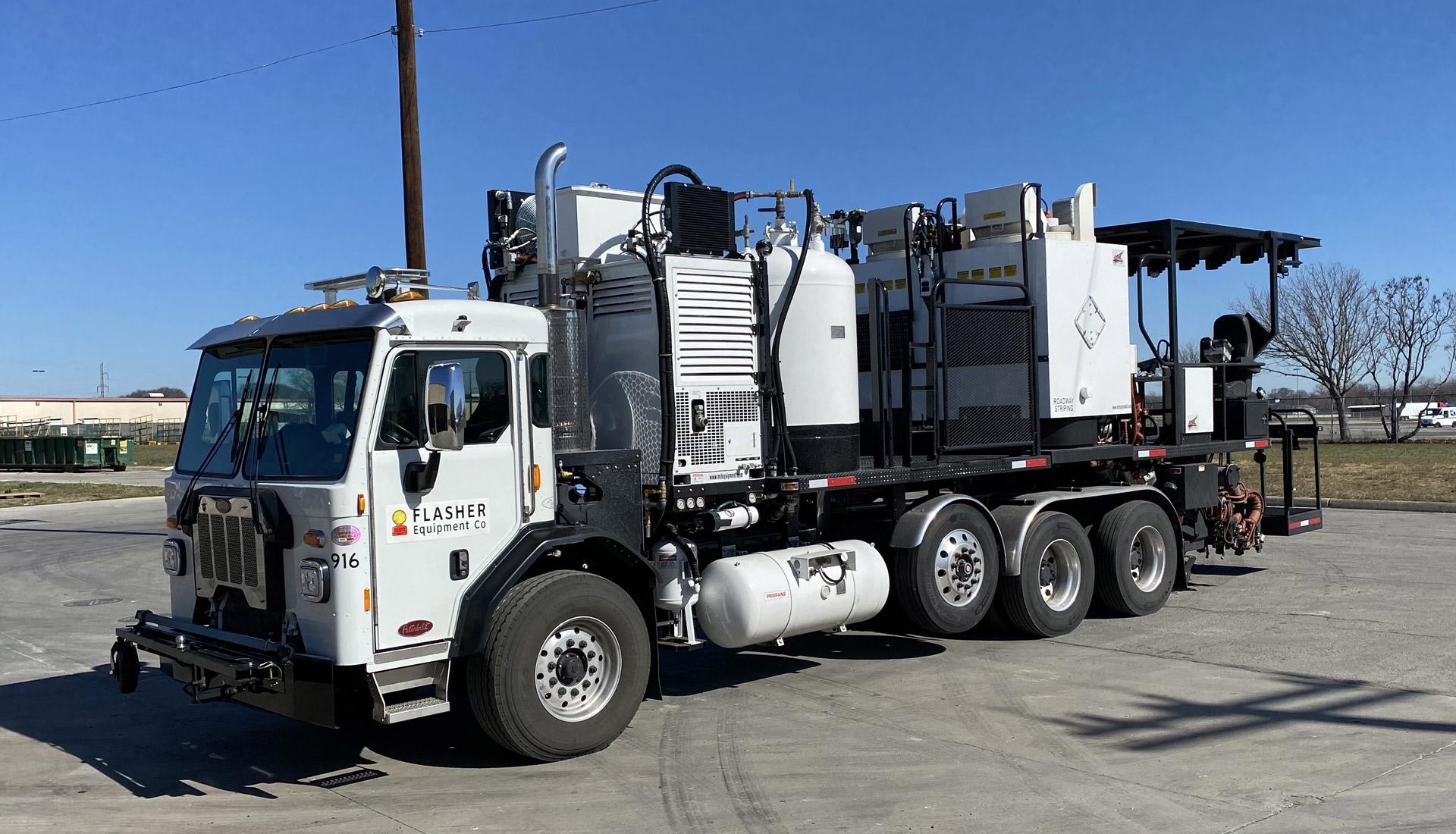 Flasher Equipment Company Thermoplastic Truck